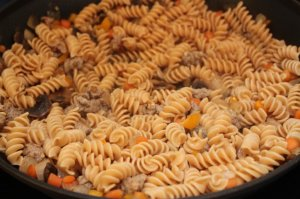 add cooked pasta to easy pasta with sausage