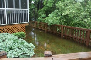 backyard-flooded in easy pasta with sausage post