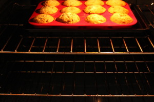 Banana Chocolate-Chip Muffins- Bake to golden brown