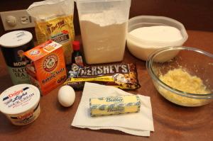 banana-chocolate-chip-muffin-ingredients