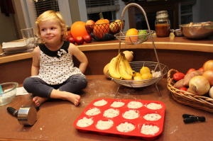 Banana Chocolate-Chip Muffins- no, smile!